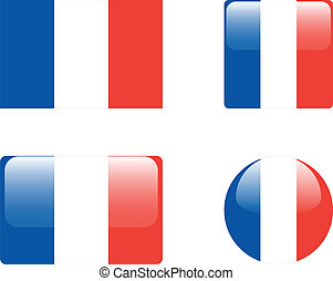 France flag & buttons