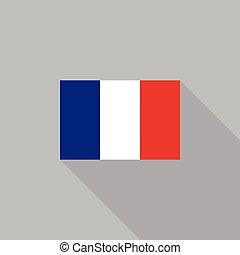 France flag flat design vector illustration