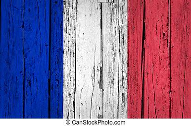 France Flag Grunge Background