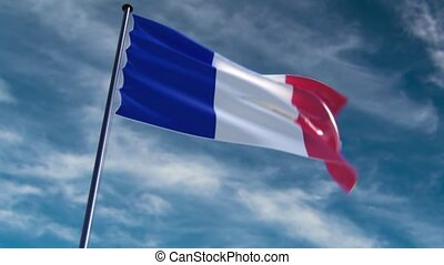 France Flag, HQ animated, neutral
