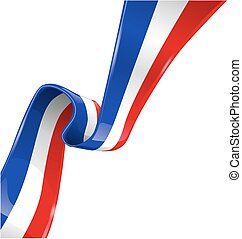 france flag isolated on white background