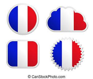 France flag labels