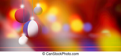 France flag on Christmas ball with blurred and abstract background.