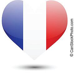 France flag on heart