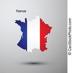 France flag on map
