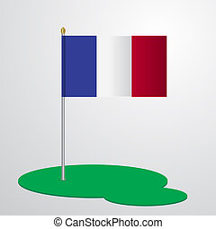 France Flag Pole