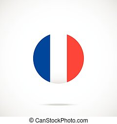 France flag round icon. Vector icon