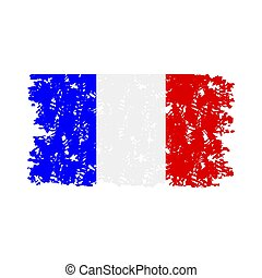 France flag rubber stamp texture