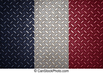 france Flag Seamless steel diamond plate
