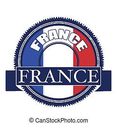 france flag stamp