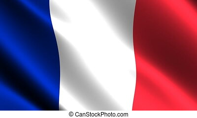 France flag waving in the wind