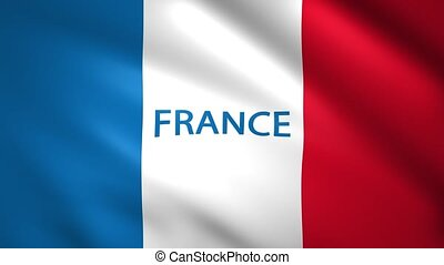 France flag with the name of the country