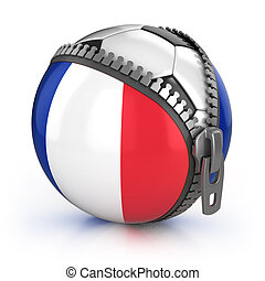 France football nation - football in the unzipped bag with...
