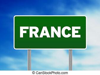 France Highway Sign