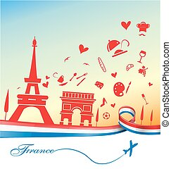 france holiday background with sym