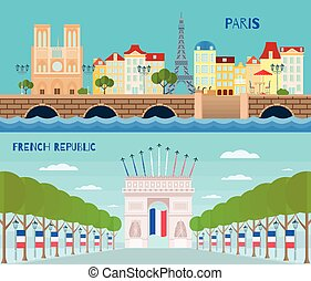 France Horizontal Banners Set