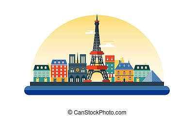 France icon in flat style - Vector illustration background...