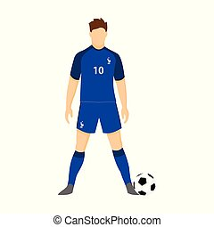 france, jersey football, national, équipe, coupe monde, illustration
