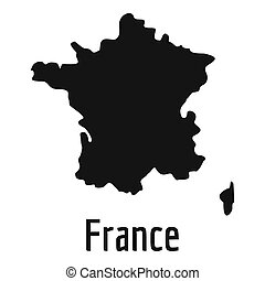 France map in black simple