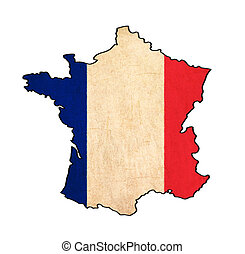 How To Draw A Map Of France.France Map And Flag Draw On Blackboard France Map And Flag Draw On