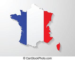 France map shadow effect
