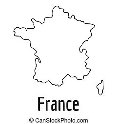 France map thin line simple