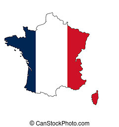 France map with color of their flag