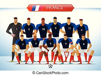 france, national, équipe football, pour, international, tournoi