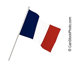 France national flag. vector illustration