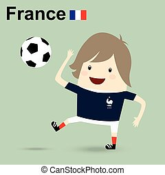 france national football team, businessman happy is playing soccer