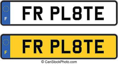 france number plate