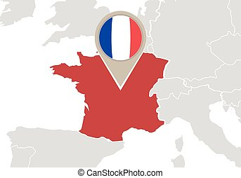 France on Europe map