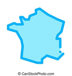 france on map icon vector. france on map sign. color symbol illustration