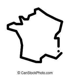 france on map icon vector outline illustration - france on ...