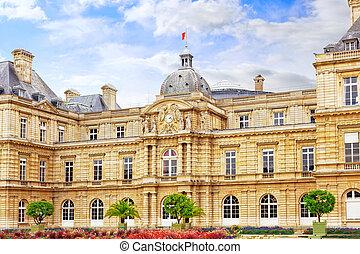 france., parís, palacio, luxemburgo