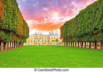france., parís, palase, luxemburgo