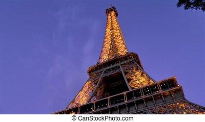 france., paris, crépuscule, tour eiffel