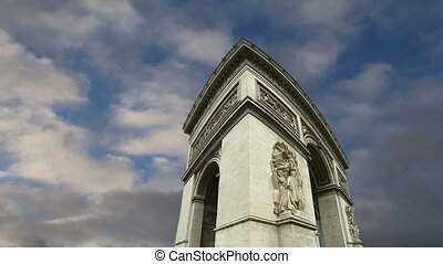 france, paris, triomphe, arc, de