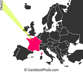 France - political map of Europe