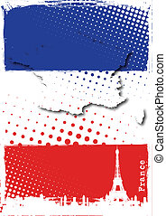 france poster - eiffel tower