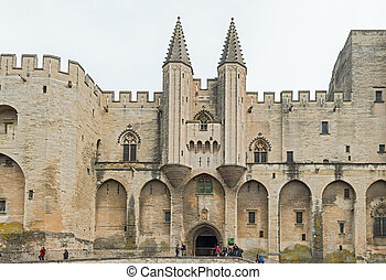 France Provence Midi Avignon Papal Palace Palais des Papes -...