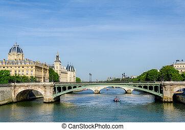 france., rivière seine, paris.