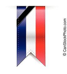 france sad black ribbon banner