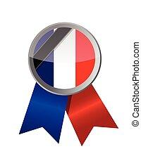 france seal and black ribbon