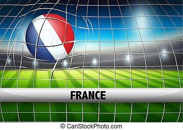 France soccer ball flag
