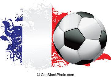 France Soccer Grunge Design