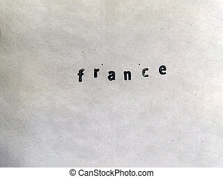 France Stamped on an old Paper