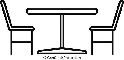 France street cafe furniture icon, outline style