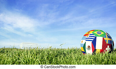 France team soccer ball for russia sport event
