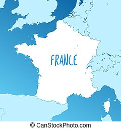 France Vector Map